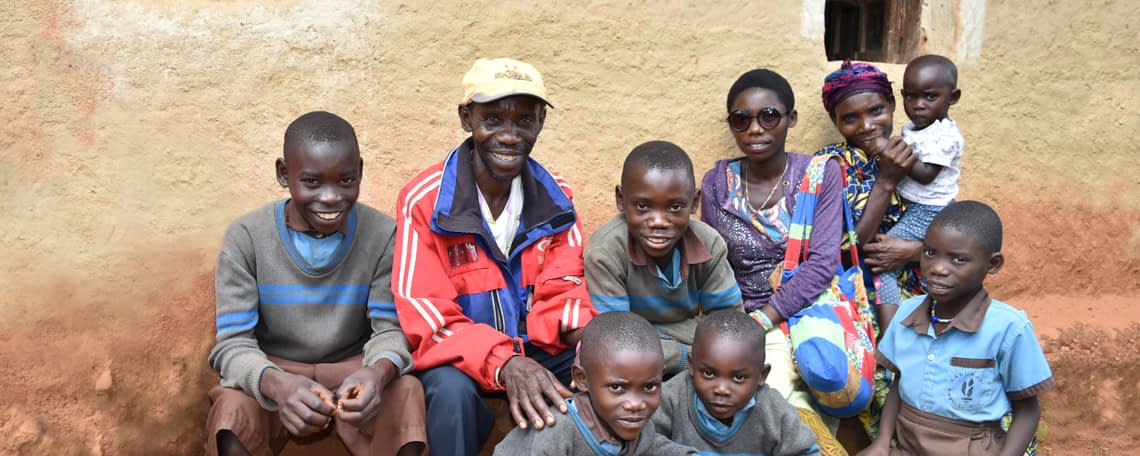 Antoine, Sauvatile and 8 of their children
