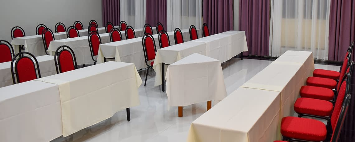 kcc conference room prepared for an event