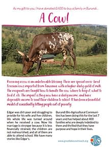 cow certificate